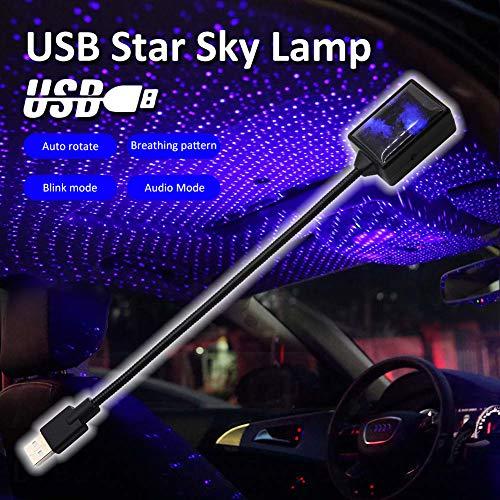 MCUILEE LED-Autodach-Sternlicht, verbesserte USB-Atmosphäre, Ambient-Stern-Projektor, Nachtlicht, Auto-Innenraum, Decke, LED, romantische dekorative Beleuchtung