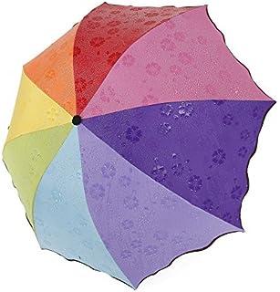 Monbedos Parapluie pliable avec changement de couleur