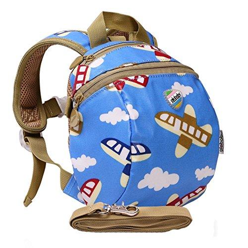 Moonwind bambini impermeabili del cablaggio del bambino zaino dei bambini del sacchetto di sicurezza del bambino con il guinzaglio (Aereo)