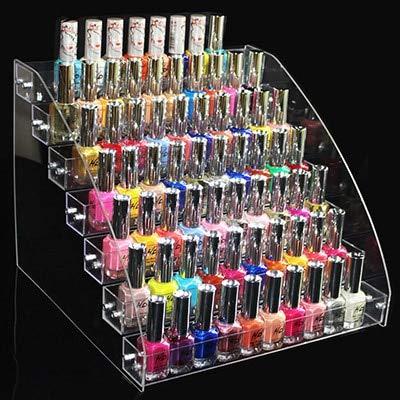 Mode klareSchichten Nagellack Rack Kosmetik Schöne Organizer Box Lippenstifthalter Make-up Lagerregal Nagel Werkzeuge Display Container