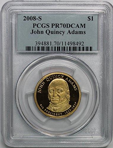 2008 S John Quincy Adams Presidential Commemorative $1 PR70DCAM...