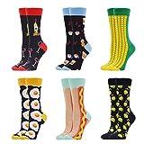 WeciBor Calcetines Estampados de las Mujeres, Mujeres Ocasionales Calcetines Divertidos Impresos de Algodón de Pintura Famosa de Arte Calcetines, Calcetines de Colores de moda
