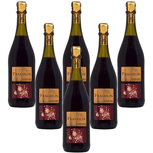 Fragolin Rosso Antonini Ceresa Vino tinto aromático italiano de fresa (6 botellas 75 cl.)