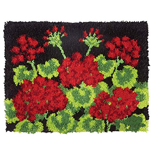 20'' X 15'' Latch Hook Kits Rug DIY Making Carpet Cross Stitch Crochet Hook Embroidery Carpet Arts and Crafts for Kids,D4