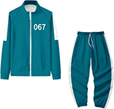Squid Game Jacket Costume Outfit 067 001 456 218 240 212 Halloween Cosplay Suit 2XS-4XL Plus Size Cardigan Rits Sweatshirt...