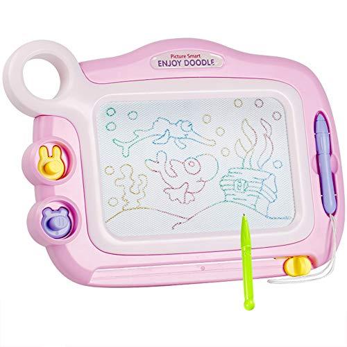 ZhaoXH-cavallo a dondolo Disegni Magnetici Doodle Lavagna Cancellabile Colorato Magna Scribble Board Writing Pad con 2 Francobolli e 1 Penna per Bambini Giocattoli per Bambini Regalo (Color : Pink)
