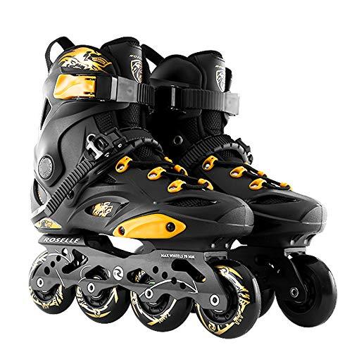 Inliner Damen Herren Inline Skates Erwachsene Roller Blades Maedchen Jungen Inlineskater Professionelle Inline-Eisschnelllaufschuhe Anfängersport Im Freien Fitness,Black-39