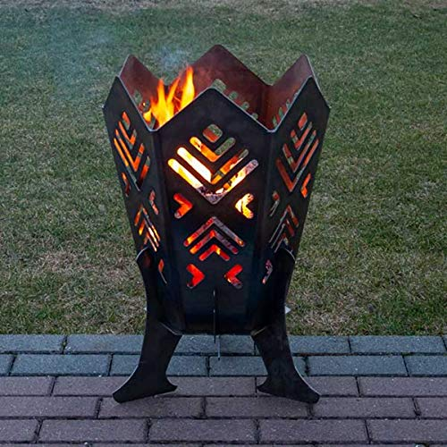 Glori Quality Outdoor Steel Fire Pit with Baltic Fir Design