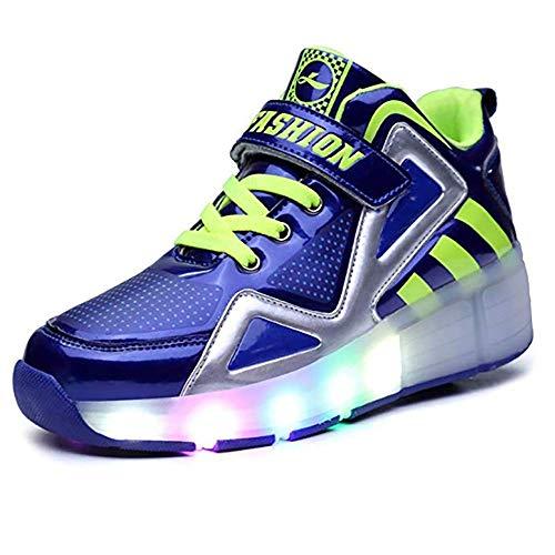 Kinder Roller Skates Single Wheel, Light Up Wheels Skate Schuhe Blinking Skate Sneaker Schuhe mit Rädern