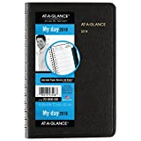 AT-A-GLANCE Daily Appointment Book / Planner, January 2018 - December 2018, 4-7/8' x 8', Black (7080005)