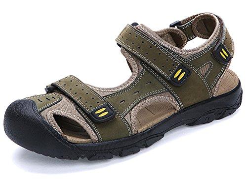 Scennek Herren Outdoor Sportschuhe Sommer Durable Sandalen Geschlossene Zehen Gemütlich, Grün - grün - Größe: 42 1/3 EU