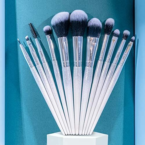 Make up Pinsel,11 Stücke Pinselset Kosmetikpinsel Schminkpinsel Blending Gesichtspuder erröten Concealers Augenkosmetik Gesichtspinsel für Berufsverfassungs oder Ausgangsgebrauch