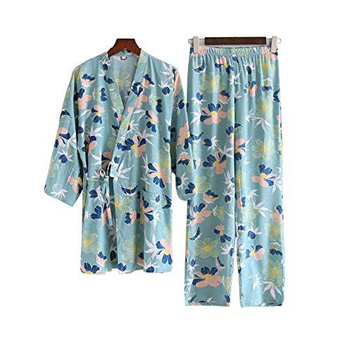 Kimono japonés para mujer, estilo retro, bata de baño Hanfu, camisón suave para el hogar, ropa de dormir, talla L