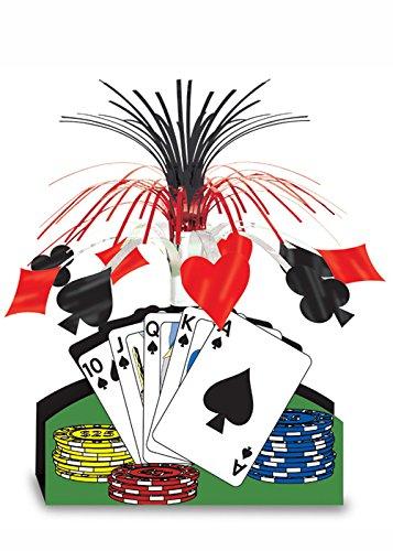 Struts Fancy Dress Casino Party Playing Card Table pièce maîtresse