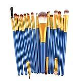16 15 Pcs Make Up Brushes Eye Brush For Eyeshadow Eyebrow Brush Multi-color Fiber Nylon Hair Skin-friendly Eye Makeup Brushes Tools