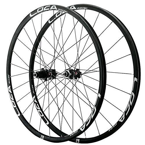 ZNND 26 27.5 29 Pulgadas Juego Ruedas Bicicleta Llanta MTB Doble Pared 6 Clavos Freno Disco 6 Garras Base Torre Liberación Rápida para 8 9 10 11 12 Velocidad
