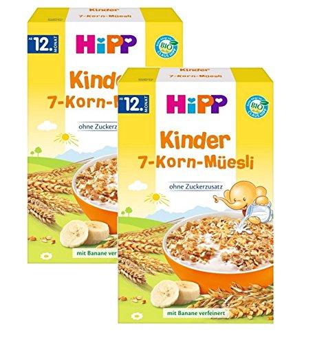Hipp Kinder Muesli 7 grains, 2 tasses (2 x 200 g)