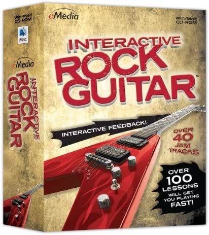 eMedia Interactive Rock Guitar Power Chords Guitar Riffs Rhythm Guitar and Lead Guitar product image