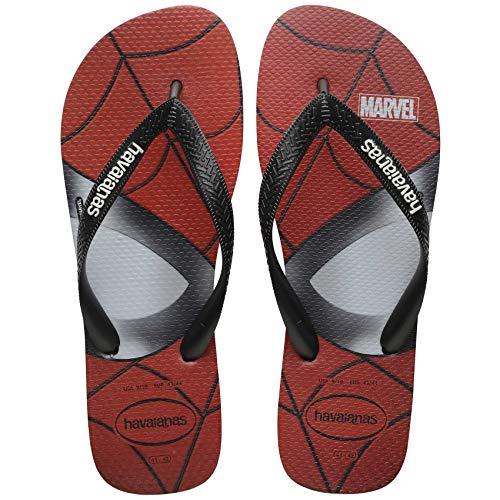 HAVAIANAS Top Marvel 0090 Negro Negro Rojo Rojo Zapatillas Chanclas de Goma...