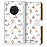 DeinDesign Étui Compatible avec Huawei Mate 30 Pro Étui Folio Étui magnétique Winnie l'ourson...