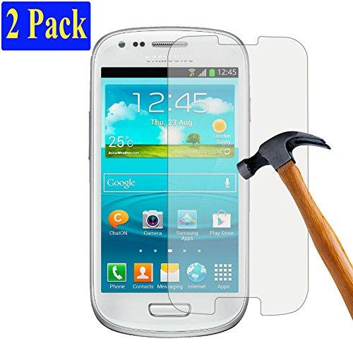 [2er Pack] plt24 Ultra-Klar Glasfolie Panzer Schutzfolie Displayschutzglas Glas Schutzglas Hartglas Glass kompatibel mit Samsung Galaxy S3 / S3 neo (2 Stück)