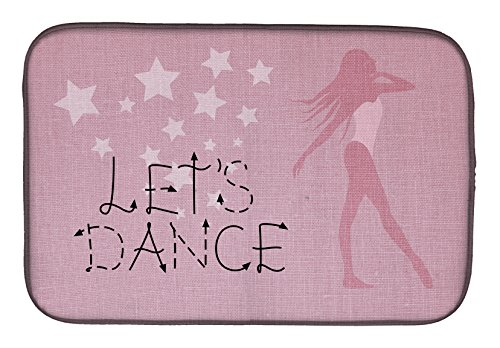 Caroline 's Treasures BB5375DDM Let's Dance Linen - Alfombrilla de secado para platos, 14 x 21, multicolor