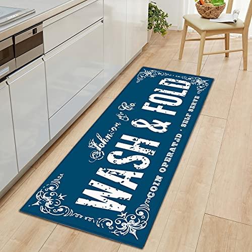 Alfombra antideslizante para el suelo de la sala de lavandería Alfombra de entrada para el hogar Alfombra de la puerta Alfombra de cocina para sala de estar Alfombra de cocina Alfombra A2 50x160cm