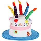 Home-X - Plush Happy Birthday Cake Hat, Celebrate in Style with the Perfect Birthday Hat for Men and...