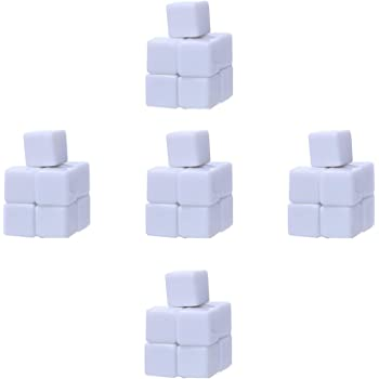 Nakimo 16MM Blank White Dice, Pack of 50
