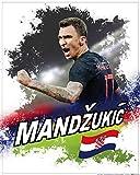 1art1 Fußball - Mario Mandzukic Kroatien Poster Kunstdruck