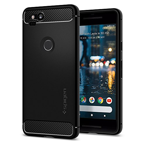 Spigen Rugged Armor Designed for Google Pixel 2 Case (2017) - Black