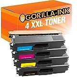 Tinta Gorilla 4x Tóner XXL Compatible con Brother TN-421 TN-423 DCP-L8410CDN DCP-L8410CDW HL-L8260CDW HL-L8360CDW MFC-L8690CDW MFC-L8900CDW | Negro 6.500 páginas, color 4.000 páginas cada una.