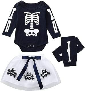 Bambini Pantaloni BYSTE Bodysuit Baby,Bambino Pagliaccetti Halloween Stampa Manica Lunga Tutine Bambina Bodycon Playsuit Cappello 3Pcs//6-24 Mesi