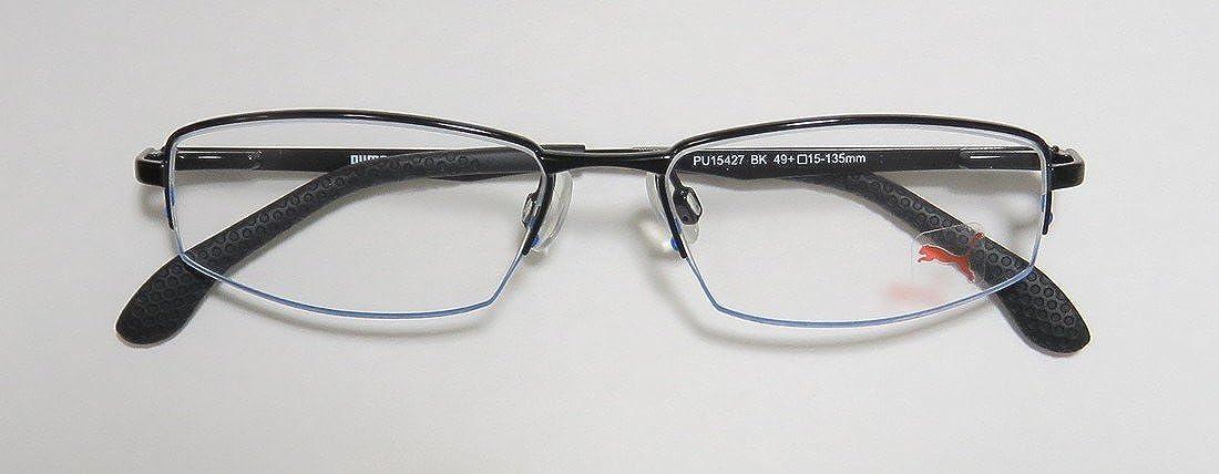 Puma 15427 Mens/Womens Spring Hinges Optimal TIGHT-FIT Designed for Active Lifestyles Eyeglasses/Eye Glasses