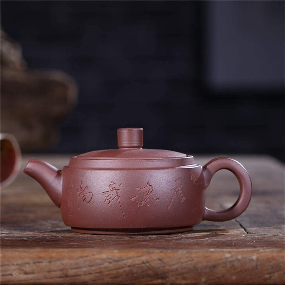 HUAXUE Max 52% OFF Ranking integrated 1st place Teapot Japanese, Purple Pieces Pot Tile Clay