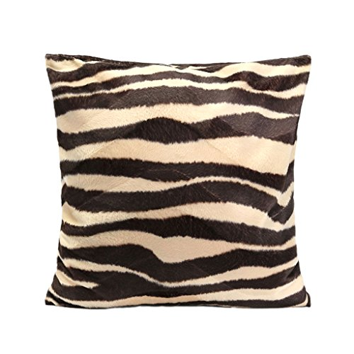 PETSOLA Funda De Almohada Cuadrada De Moda Animal Print Leopard Zebra Cushion Covers Sofá Coche - Estilo 03