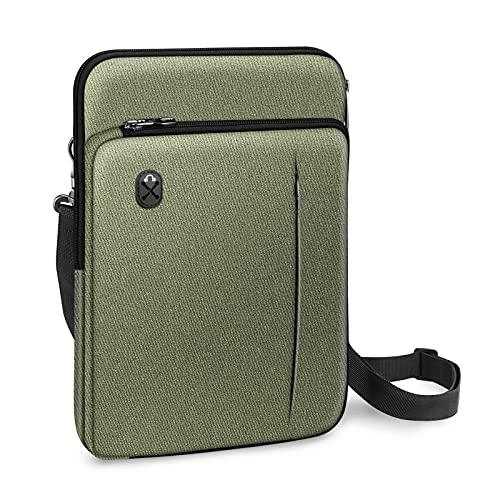 FINPAC Funda para Portátiles de 13', Bolsa de Hombro Maletín Repelente al Agua para MacBook Air 13/MacBook Pro 13/iPad Pro 12.9/Microsoft Surface Pro 7/6/5/4/3, (Verde)