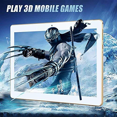 Tablet 10 Zoll Android 8.0, Padgene Android Tablet PC 10,1 Zoll Quad Core IPS HD Pad mit 2G RAM 32G Speicher Dual SIM Slots Dual Kamera WiFi/3G Entsperrt Bluetooth 4,0 GPS Telefonfunktion(Weiß)