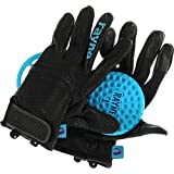 Rayne Longboards V2 High Society - Guantes de seguridad (talla mediana), color negro y cian