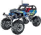 Technik Pull Back Monstertruck Racer Bausteine Auto Konstruktionsspielzeug mit 193 Teilen