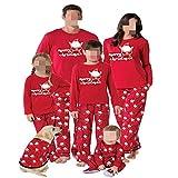 TLLW Familia de Navidad Pijamas Familiar a juego de Navidad Pijamas Conjunto Top y Pantalones Largos Ropa de Dormir Ropa de Hogar de Nochebuena Pijamas