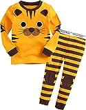 VAENAIT BABY Kids Boys Sleepwear Pajama 2pcs Set Tie Tiger M