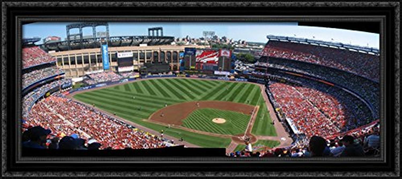 Shea Stadium 40x18 Large Black Ornate Wood Framed Canvas ArtHome of the New York Mets