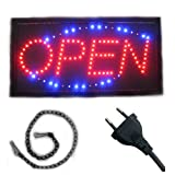 LED Schild Display Leuchtreklame 'OPEN' 48x25cm