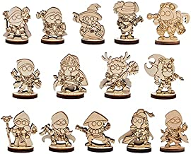 DND Fantasy Miniatures 14 Cute Character Classes Set 2.5D Wood Laser Cut Figures 28mm Scale Perfect for Dungeons and Dragons, Pathfinder and Other Tabletop RPG