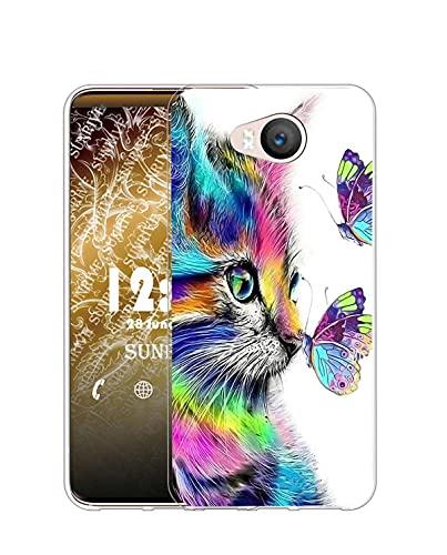 Sunrive Kompatibel mit Elephone P9000 Lite Hülle Silikon, Transparent Handyhülle Schutzhülle Etui Hülle (Q Katze 4)+Gratis Universal Eingabestift MEHRWEG