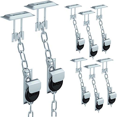 BASI® 4x Gitterrostsicherung GS100 Stahl verzinkt Zusatzsicherung für Lichtschacht/Kellerschacht