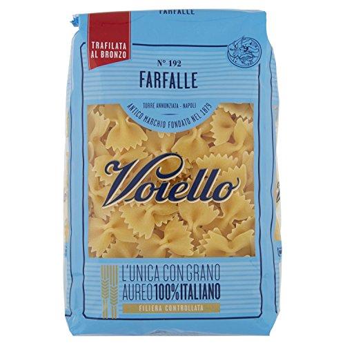 Voiello Pasta Farfalle N.102, Pasta Corta di Semola Grano Aureo 100% - 500 g