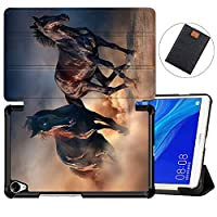 MAITTAO Case Compatible with Huawei MediaPad M6 8.4 2019, Slim Leather Folio Smart-Shell Stand Cover with Auto Wake/Sleep for Huawei Mediapad M6 8.4 Inch 2019 Released Tablet, Akhal-Teke Horse 18