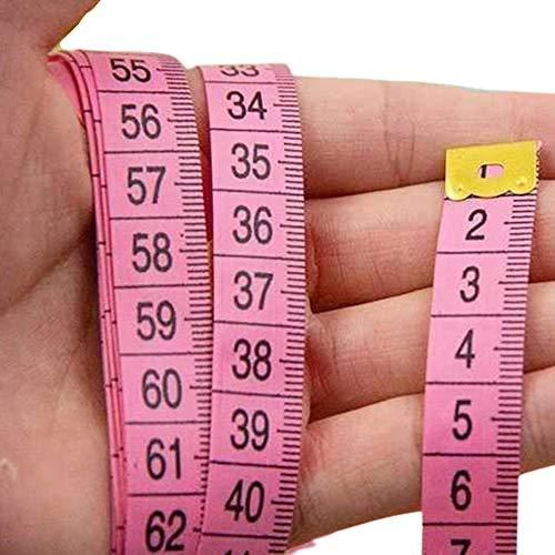 Regla de medición de cuerpo de doble cara multifuncional cinta de costura para medida familiar circunferencia de pecho/cintura, 60 pulgadas/150 cm